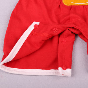 Hot Sales Baby Neutral Summer Short-sleeved Santa Claus with hat