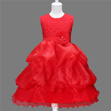 Hot Sale Embroidered Gauze Rose Princess Dress Girl Dress