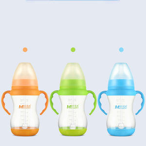 Brand 240ml/320ml Baby Bottle PP Temperature Sensing Bottom with Double Handle Nipple BPA Free Baby Feeding Milk Bottle