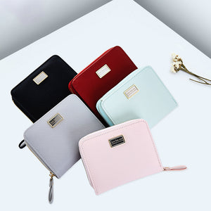 New Version Of The New 2018 Women'S Hands With The Fashion South Korea Simple And Pure Color Multi-Capacity Change Card Bag
