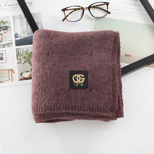 Warm Keeping Solid Color Men's Winter Accessory Scarf
