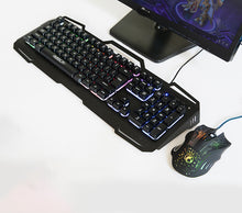 Wired Key Mouse Suit LED Display Of The Backlight Metal Game Key Mouse Suit