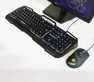 Game Light Key Mouse Suit Ak-400 +X8 Wired USB Key Mouse Package