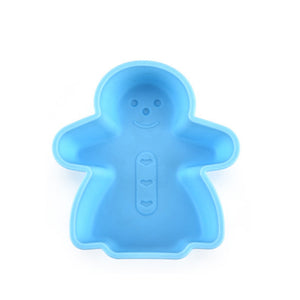 Kitchen Supplies Snowman Cake Mold Silicone Baking Mold Anti-Scalding Mold DIY Baking
