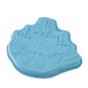 Silicone Kitchen Helper Silicone Cake Mold Pirate Ship Cake Mold