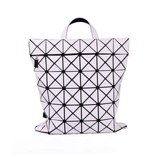 Triangle Jigsaw Square Shape PVC Creative Backpack