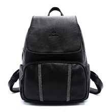 Fashion Black Backpack with Straps Details