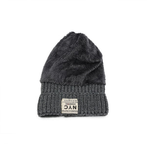 Female Thick  Warm Head Korean Style Wool Knitted Hat