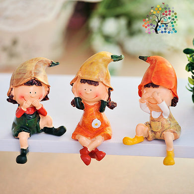 Wedding household arts and crafts set pieces of sanbugongzi do not listen to do not say resin doll