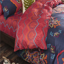 Court Fashion Night-sky Blue Floral Pattern Soft and Luxury Beddings Set