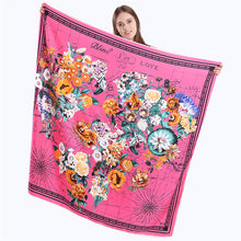 Pattern Printed Square Silk Scarf
