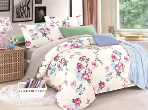 Pink Roses Pattern Soft and Luxury Beddings Set