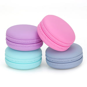 Travel Silicone Cosmetic Containers With Sealed Lids Pills Container (0.7 oz.)