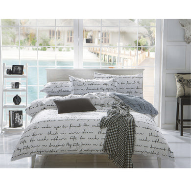Northern Europe Style Letters Pattern Soft and Luxury Beddings Set