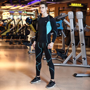 Men'S Quick-Drying Running Tights Men'S Sportswear Long-Sleeved Sportswear Two-Piece Suit