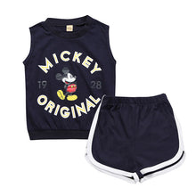 New Summer girl boys clothing cotton Sleeves vest letter boy clothing sets infant