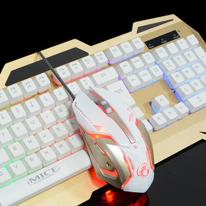 Wired Keyboard Mouse Set USB Light Computer Peripherals Universal Keyboard Mouse Sleeve