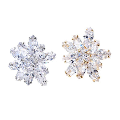 Zircon Flower Shape Sweater Collar Clip Pins (1 pcs)