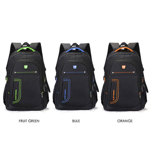 Black Outdoor Campus Fashion Men's Backpack