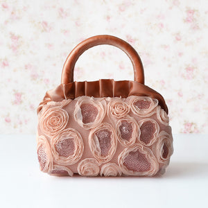 Sequin Detailed Flowers Decoration Elegant Hand Bags for Ladies