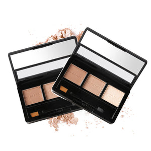 BY NANDA 3 Colors Palette Eyebrow Powder with Brush