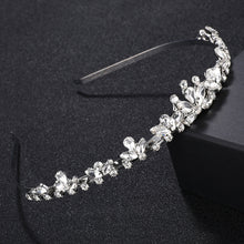 Charms Rhinestone Tiara Wedding Crown for Bride Bridal Headband Hair Accessories Jewelry Handmade Ladies Handband Party