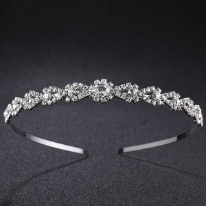 Wedding Tiaras Beautiful Tiara Bridal Headband Crown Silver Crystal Rhinestones Crown Fashion Hair Jewelry Rim for Hair