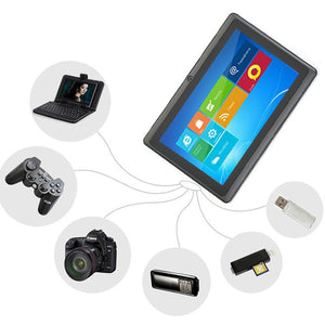 Quanzhi Seven Inch Four Core Q88 Bluetooth Gift Old People Tablet Computer