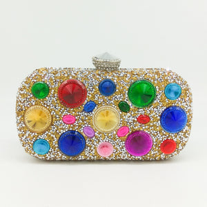 New Women's Purse Is A Bag Of Colored Diamonds And A Bag Of Colored Diamonds