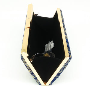 Luxury Gold Thread Embroidery Banquet Wrapped In A Plush Handbag With A Bag Of Famous Ladies Wrapped In A Chain Package