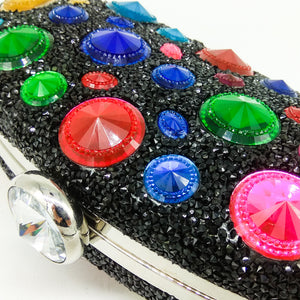 Lady's Bag Is Decorated With A Colorful Water Drill With A Bag Of Colored Water