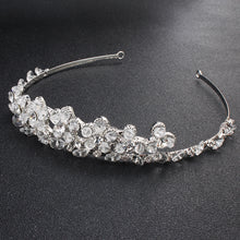 Fashion Rhinestone Crystal Women Tiaras and Crowns Handmade Hair Jewelry Accessories Princess Diadem Headband Hairpieces