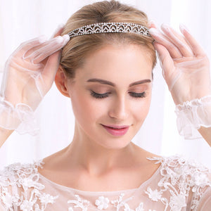 Women Tiaras and Crowns Luxury Rhinestone Princess Diadem Queen Hair Jewelry Wedding Bride Hair Hairbands Accessories