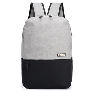 Backpack Male Fashion USB Interface Backpack High Junior College Students Backpack Travel