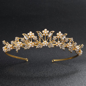 China Classic Tang Dynasty Style Princess Tiaras and Crowns Luxury Gold Color Diadem Wedding Women Hair Jewelry