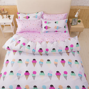 Ice Creams Pattern Soft and Luxury Beddings Set