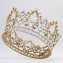 Romantic Silver Leaves Shape Hair Tiara Crown Crystal Bridal Wedding Party Hair Jewelry Elegant Hair Crown for Bride
