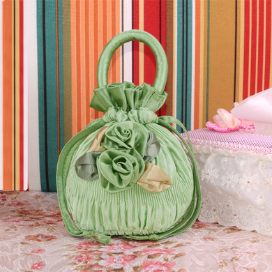 Flowers Decorated Small Size Change Handbags