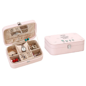 New Portable Jewelry Storage Box  Large-Capacity Jewelry Box Desktop Storage Box With A Small Mirror