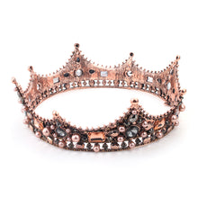 Luxury Vintage Baroque Black Wedding Crowns Alloy Bridal Tiara Queen King Rhinestone Crown and tiara Hair Accessories