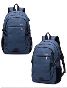 18 inches Dacron Big Capacity Backpack with External USB Port
