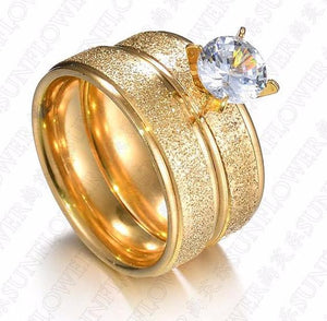 The New Couple Frosted With Zircon To Ring The Korean Version Of A Simple Wedding Ring