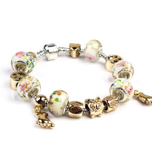 Roses Beads Charms Bracelet for Girls and Women