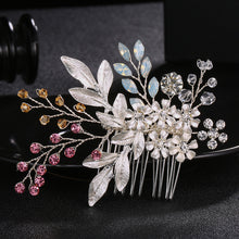 Fashion Austria Crystal Stone Hair Combs Handmade Wedding Hairpins Women Hair Jewelry Clips Colorful Bridal Accessories