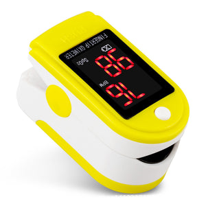 1 Set portable finger oximeter Fingertip Pulse Oximeter Heart Rate Meter with Pulse Curve Display & Easy-to-read Color Display