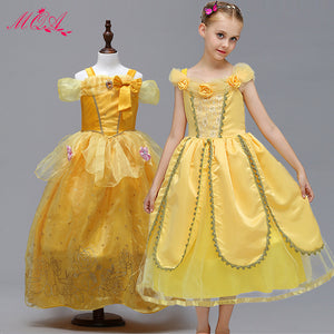Yellow Princess Dress Off Shoulder for Girl