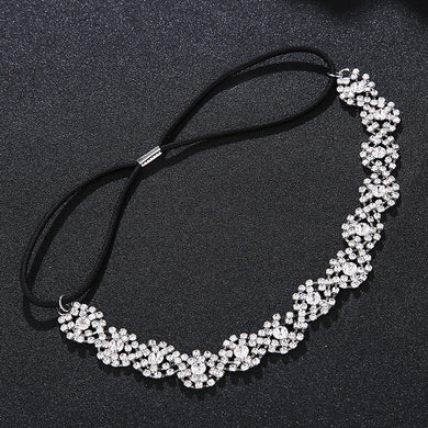 Elastic String Headband Women Crystal Beads Hairband Tiaras Hair Accessories Headbands Wedding Hair Jewelry