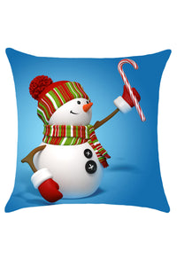 Snowman Printed Christmas Pillow Case