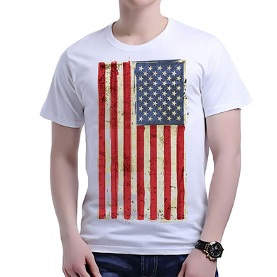 Latest Fashion United States of America Flag T-shirt USA Flag Shirts Fashion Men T Shirt Clothing