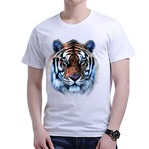 New Summer fashion T-shirt Tee Tops Cartoon cute wolf rose print men t shirts